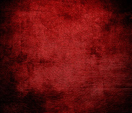 candy apple: Grunge background of dark candy apple red leather texture