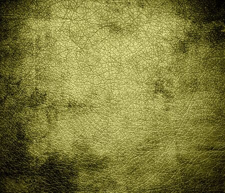 Grunge background of dark khaki leather texture