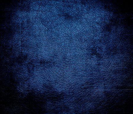 cerulean: Grunge background of dark cerulean leather texture
