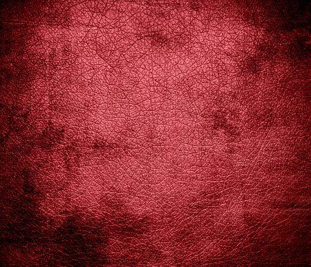 terra: Grunge background of dark terra cotta leather texture