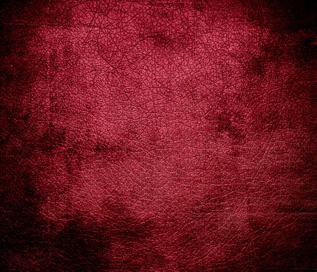 bolster: Grunge background of deep carmine leather texture Stock Photo