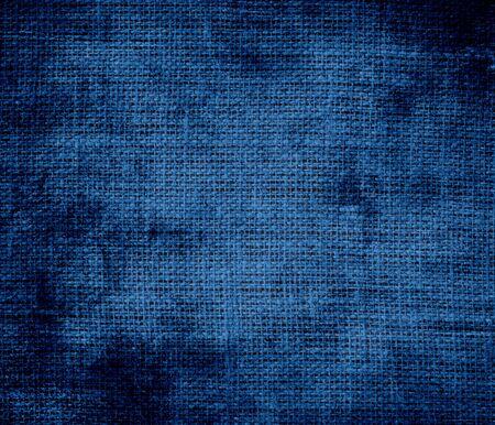 cerulean: Grunge background of dark cerulean burlap texture Stock Photo
