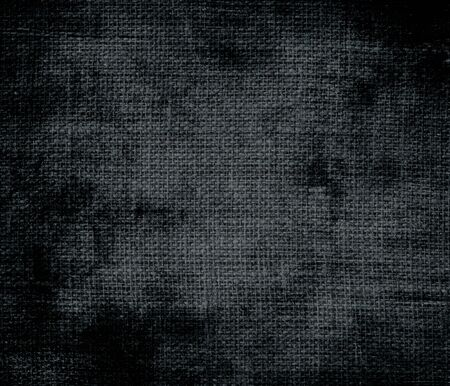 gunmetal: Grunge background of dark gunmetal burlap texture Stock Photo