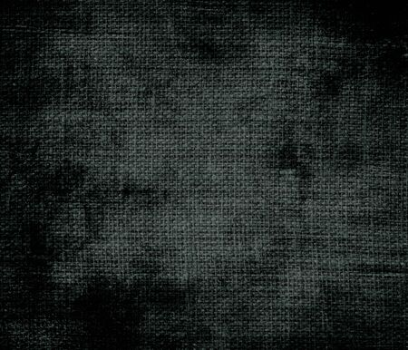 dark jungle green: Grunge background of dark jungle green burlap texture