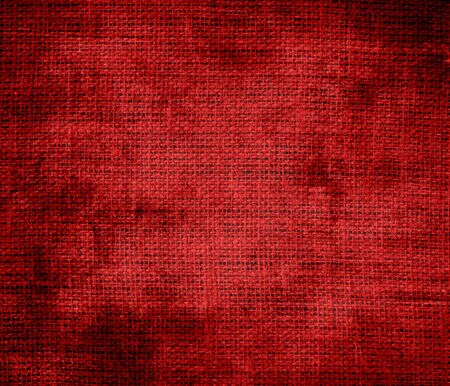 candy apple: Grunge background of dark candy apple red burlap texture