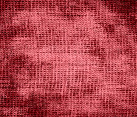 terra: Grunge background of dark terra cotta burlap texture