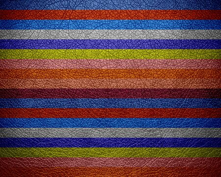 bolster: Colorful stripes pattern leather texture background