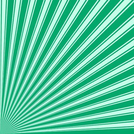 jade: Jade Color Stripe Funky Sun Rays Backgound Stock Photo
