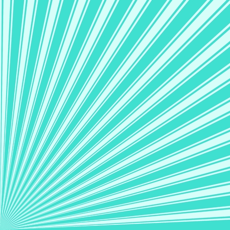 radiate: Turquoise Color Stripe Funky Sun Rays Backgound