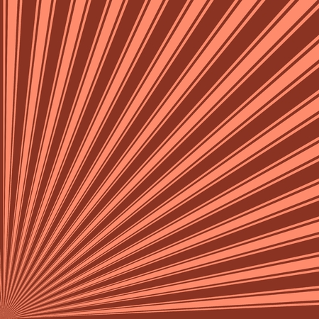 burnt: Burnt umber Color Stripe Funky Sun Rays Backgound Stock Photo