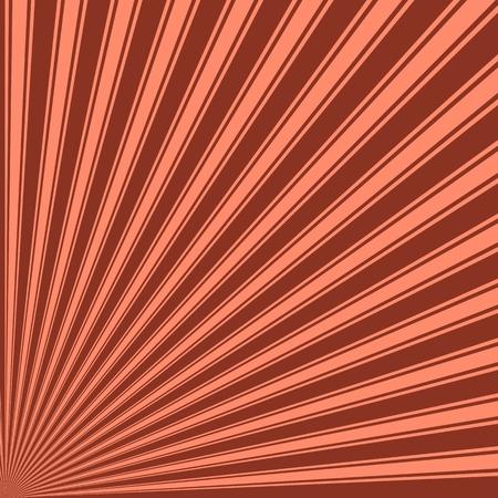 sun burnt: Burnt umber Color Stripe Funky Sun Rays Backgound Stock Photo