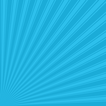 cerulean: Bright cerulean Color Stripe Funky Sun Rays Backgound