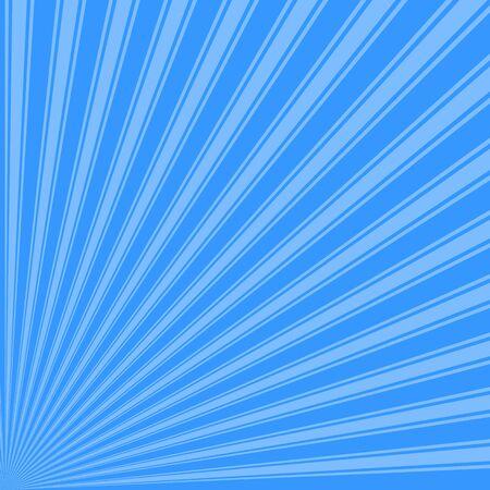 azure: Brilliant azure Color Stripe Funky Sun Rays Backgound