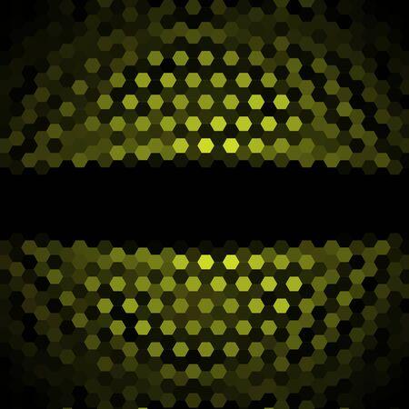 acido: Ácido hexágonos verde del fondo del modelo