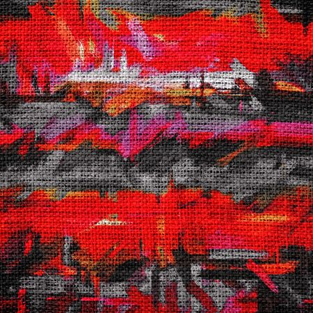 latex: Abstract Color Paint Brush Burlap Background