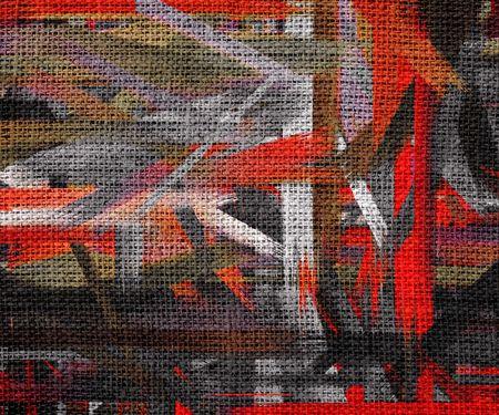 color paint: Abstract Color Paint Brush Burlap Background