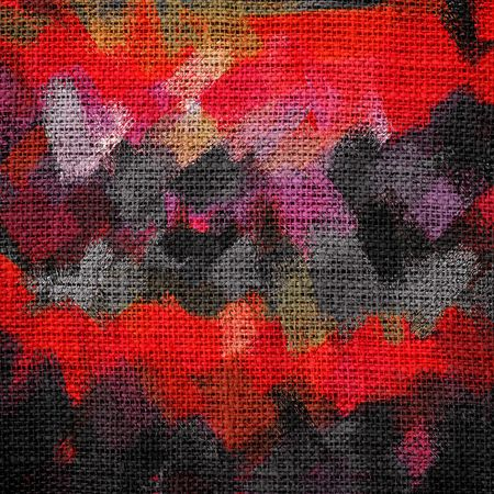 Abstract Color Paint Brush Burlap Background