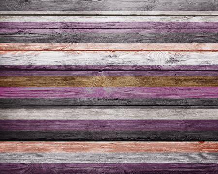 Vintage Warm Colors Paint Stripes Wood Background