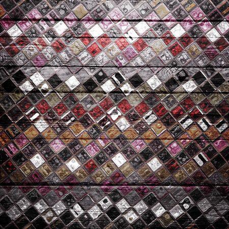 Vintage Colors Mosaic Wood Background