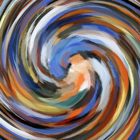 slop: Abstract art swirl rainbow colored background Stock Photo