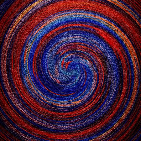 blue spiral: Abstract Brown Blue Spiral Leather Background Stock Photo