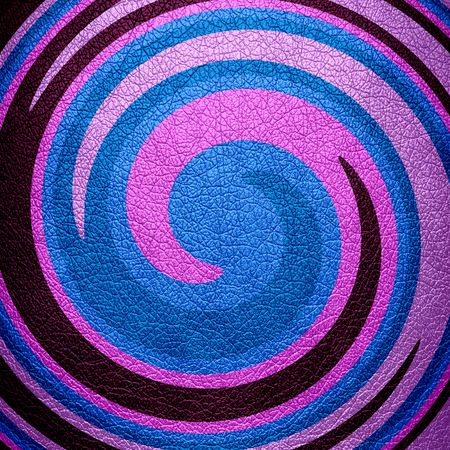 leather background: Abstract Blue Pink Spiral Leather Background Stock Photo