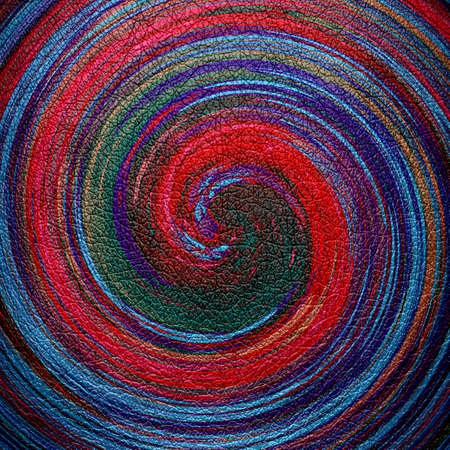 leather background: Abstract Colorful Spiral Leather Background