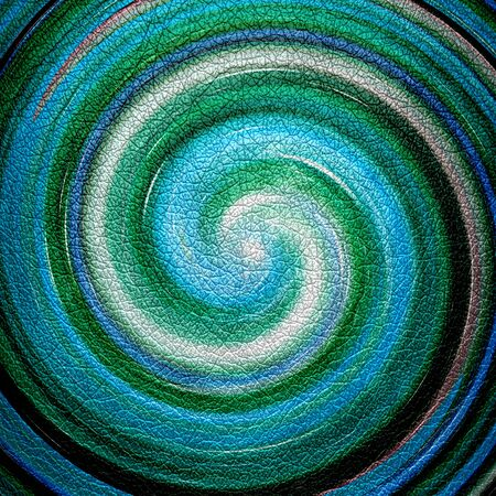 slop: Abstract Turquoise Spiral Leather Background