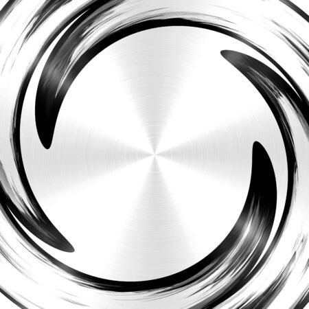 slop: Abstract Black Spiral Stainless Steel Background