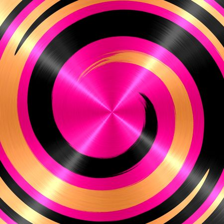 slop: Abstract Black Gold Pink Spiral Stainless Steel Background