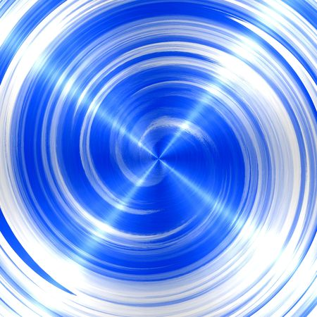 blue spiral: Abstract Blue Spiral Stainless Steel Background