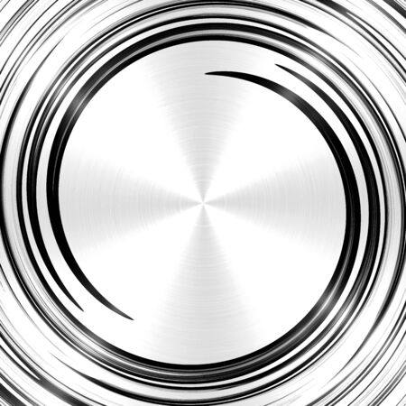 twirl: Abstract Black Spiral Stainless Steel Background