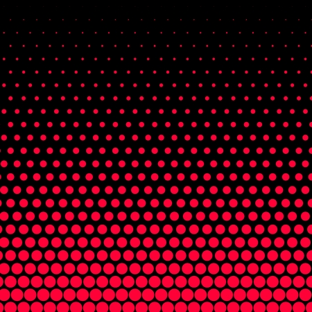 Cadmium red polka dot on black background