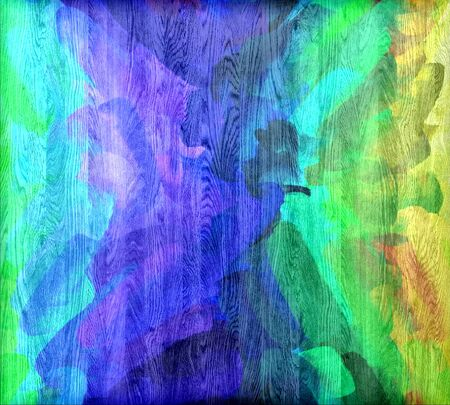 painted wood: Colorful painted wood grain texture background