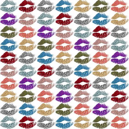 Colorful Lips Background Stok Fotoğraf - 88622179