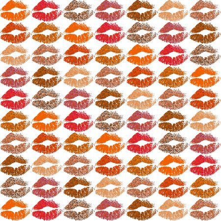 Stylish Colorful Lips Background