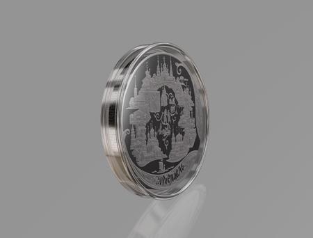 commemorative silver coin 200 rubles city of Yaroslavl. Russia Stock Photo