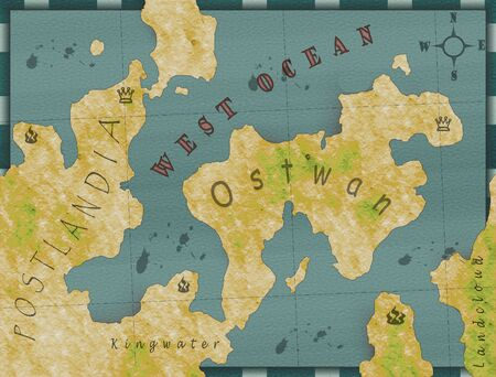 meridian: Image dream world to a map in retro style