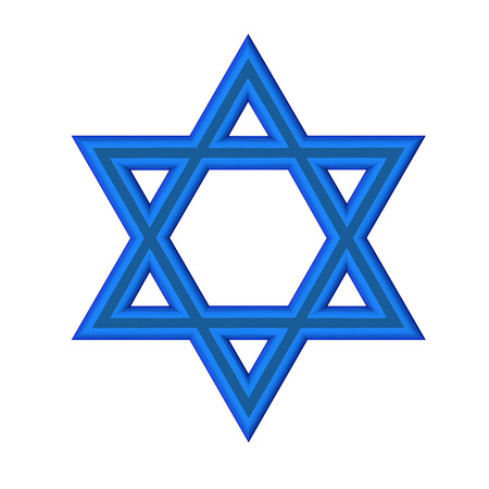 king solomon: image of the Star of David on a white background isolated