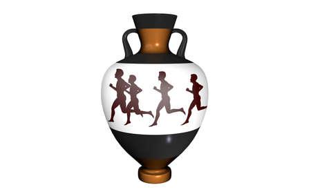 antique vase: Vase in antique style