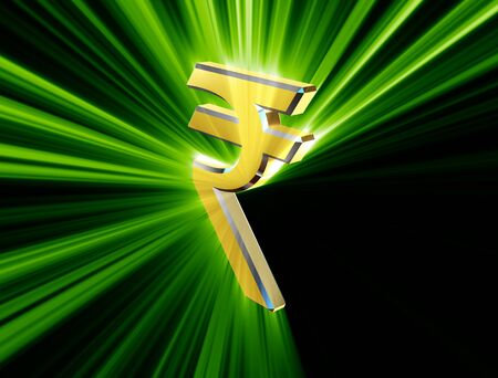 indian currency: symbol currency of the Indian rupee