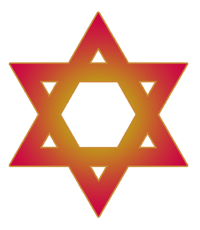 monotheism: image of the Star of David on a white background isolated