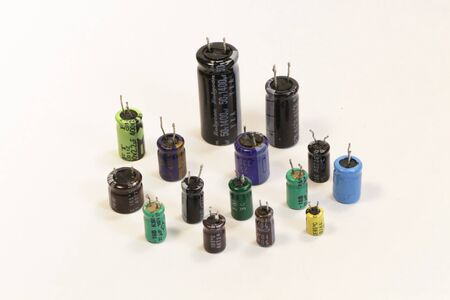 capacitance: Radio components - a set old of capacitors