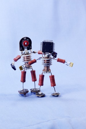 componentes: homemade puppet man of the electronic components