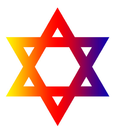 image of the Star of David on a white background isolated