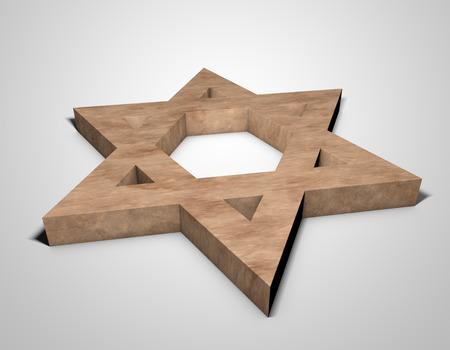 ishtar: stylized image Star of David made of stone