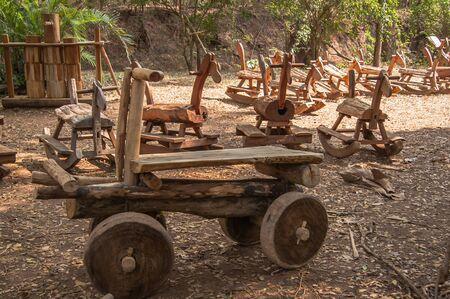 graden: Wooden toys car in graden