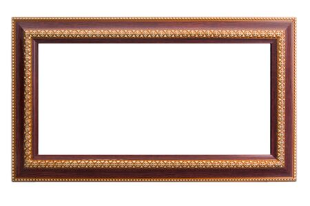 marco madera: marco de madera con el arte tailandés diseño de la pintura de oro del arte