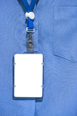 cardholder: office shirt with Blank ID card