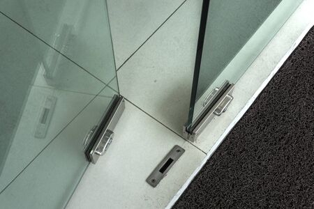 open glass doors into office room Close up unlock glass door Stock Photo - 77131467 & Open Glass Doors Into Office Room Close Up Unlock Glass Door Stock ...